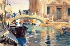 Ponte San Giuseppe di Castello, Venice - John Singer Sargent