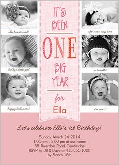 Look Whoos Turning St Birthday Boy Month Photo Invite Card - Birthday invitation 1 year old baby girl