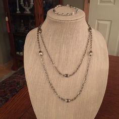 Vintage Silver Necklace & Bracelet Set