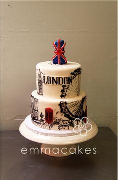 Cake Wrecks Sunday Sweets: Around the World in 80 Days - London cake Cake Wrecks, Beautiful Cakes, Amazing Cakes, Fondant Cakes, Cupcake Cakes, City Cake, London Cake, London Party, Travel Cake