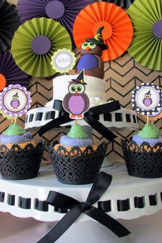 owl party ideas | ... used in this owl halloween party available in kara s party ideas shop