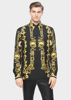 b39a855aa53 Versace. Barocco Heritage Print Shirt by Versace for Men s Shirts. Opulent