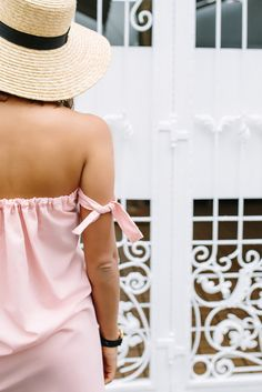 DIY Strapless Dress With off the Shoulder arm Ties