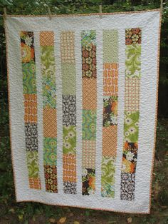 Easy Quilt Patterns | PATTERN Brick Layer Lap Quilt ...easy, uses fat quarters or layer cake