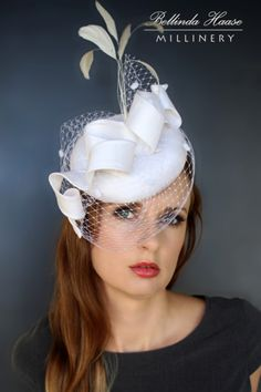 Silk Cocktail Hat by BELLINDA HAASE #HatAcademy #Millinery