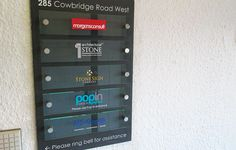 <h1>MS-Group Directory</h1><p>Stone Sign Company created this directory board for the MS-Group reception incorporating slate, acrylic and chrome in a sleek design. The address of the building was hand engraved and enamel painted.</p><span>2/4</span>