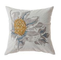 18 X 18 Sunflower Print Handmade Pillow Case by GlamorousJILL