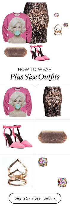 """""""plus size pretty eclectic in pink"""" by kristie-payne on Polyvore featuring H&M, Kate Spade, Hunting Season and Alexander Wang"""