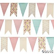 Pastel and Floral Pennant Banner – The Antique Marketplace