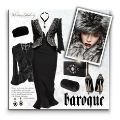 """Baroque Russian Winter"" by signaturenails-dstanley ❤ liked on Polyvore featuring Accessorize, Giorgio Armani, Dorothy Perkins, Forever New, Noir, Moore and Moore and Brian Atwood"