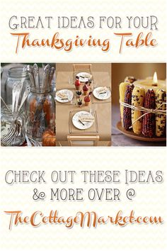Great Ideas for your Thanksgiving Table