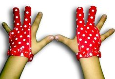 Glovey Huggey ~ Red Polka ~ Gloves to help stop finger sucking $39.99