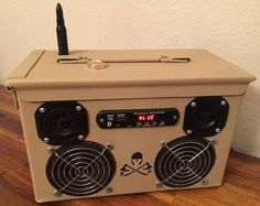 Ammo Can Rechargeable Stereo Boombox V.1 - Tan