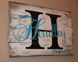 Initial with last name reclaimed pallet wood wall hanging.Email wallyswoodcrafts@gmail.com with personalization information.