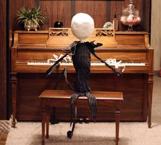 What's This?   My Halloween project this year.   What's This?   A life size Jack Skellington.       You may remember how we really like Ni...