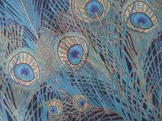 pearl-nautilus: William Morris Peacock Pattern Plus #OilPaintingPeacock