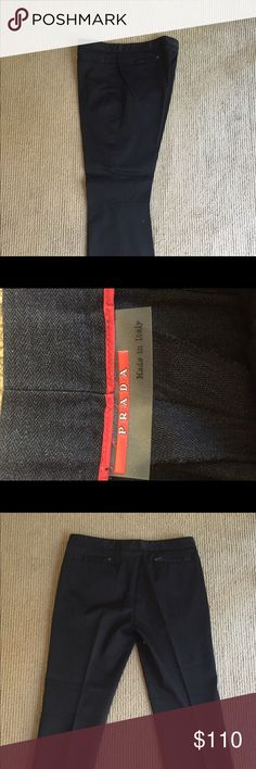 Prada pants in new condition very nice pair Black dress pants make offer can workout price Prada Pants Dress
