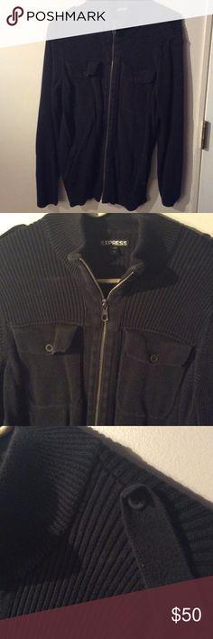 Express knit sweater zip up jacket Express knit sweater zip up jacket Express Sweaters Zip Up