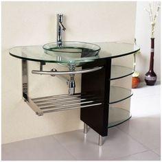 Kokols Vessel Sink Bathroom Vanity Set | AllModern - $309