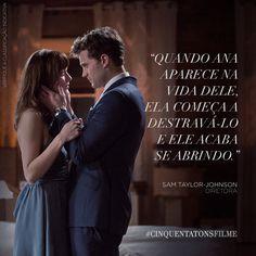A diretora Sam Taylor-Johnson, de #CinquentaTonsFilme, sobre a relação de Christian e Ana. #ChristianGrey #AnaSteele