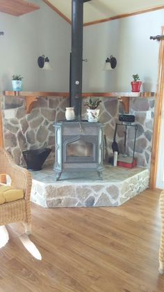 Most recent Free of Charge wood burning Fireplace Remodel Thoughts Poêle à Bois Wood Stove Decor, Wood Stove Wall, Wood Stove Surround, Wood Stove Hearth, Stove Fireplace, Fireplace Remodel, Wood Burner, Fireplace Design, Home Renovation