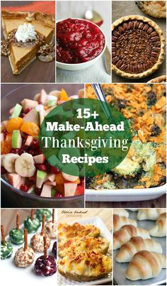 A round-up of FAMILY FAVORITE easy make-ahead Thanksgiving recipes including Thanksgiving sides dishes and desserts. Prep Thanksgiving a few days in advance to make your life easier! | Tastes Better From Scratch