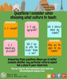 Want to integrate culture into your foreign language instruction and classroom? Here are ideas to do just that! input Mundo de Pepita, Resources for Teaching Spanish to Children Spanish Language Learning, Teaching Spanish, Teaching Resources, Foreign Language, Spanish Teacher, Greek Language, Dual Language, Teaching French, Teaching Strategies