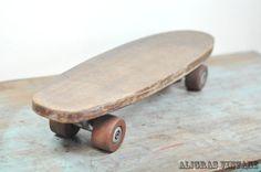 Vintage Handmade Wooden Skateboard 1950s Retro Comet by Aligras, $55.00