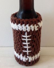 Maggie's Crochet · Father's Day Football Beer Cozy - Free Crochet Pattern