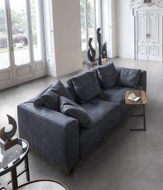 Alivar - Canapé 2 places contemporain et élégant - Bleu Nuit de chez Tailor