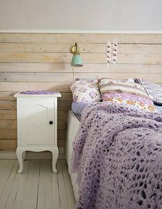 wood wall // purple throw // love. My New Room, My Room, Home Bedroom, Bedroom Decor, Lilac Bedroom, Pretty Bedroom, Lavender Bedding, Lavender Walls, Bedroom Ideas