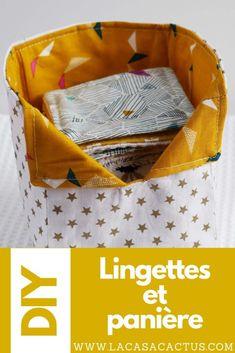 {DIY} Lingettes lavables et panière - La Casa Cactus