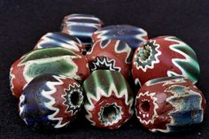 7 Layer Chevron Beads | Collection of the Picard museum. Very rare.