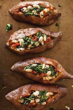 Vegan Stuffed Sweet Potatoes with Spinach and White Beans - .- Vegan Stuffed Sweet Potatoes with Spinach and White Beans – width= Vegan Stuffed Sweet Potatoes with Spinach and White Beans – width= - Vegan Vegetarian, Vegetarian Recipes, Healthy Recipes, Vegan Recipes Vegetables, Clean Food Recipes, Dinner Recipes, Vegetarian Cookbook, Vegan Foods, Vegan Meals