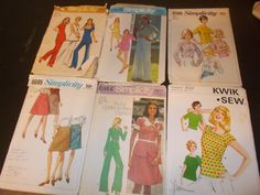 Inventory 119 Vintage Sewing Patterns this is a Lot of 6 size 12 patterns