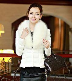 Japanese Winter Fashion White Women Coat