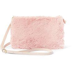 Steve Madden Women's Bsofoxy Handbag ($58) ❤ liked on Polyvore featuring bags, handbags, shoulder bags, blush, purse shoulder bag, handbags shoulder bags, faux fur purse, purse crossbody and steve madden purses