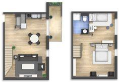 Floor plan rendering 16 by Alberto Talens Fernández at Coroflot.com