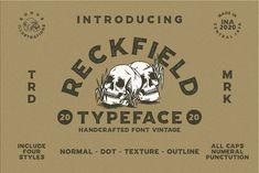 Reckfield Typeface by 24Design Studios on @creativemarket #display #font #handpicked Sans Serif Fonts, Handwritten Fonts, Cursive Fonts, Cool Fonts, New Fonts, Vintage Fonts, Graphics Vintage, Vintage Typography, Vector Graphics
