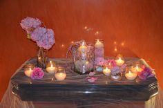 decoración con velas