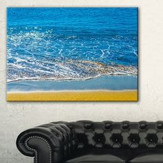 Shop for Sandy Beach and Calm Blue Sea Surf - Contemporary Seascape Art Canvas. Get free delivery at Overstock.com - Your Online Art Gallery Store! Get 5% in rewards with Club O!