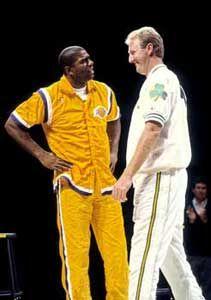 Lakers Vs Celtics, Boston Celtics, Showtime Lakers, Sports Personality, I Love La, Magic Johnson, Larry Bird, Sports Figures, Nba Basketball