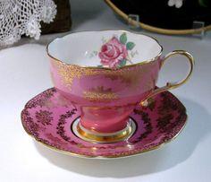 Vintage Paragon Tea Cup and Saucer Set, English Fine Bone China Teacup, Pink Tea…