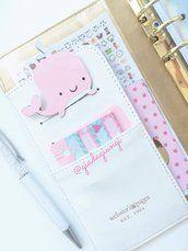 Paperpins lifeplanner-  balena rosa