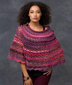 Dubonnet Poncho - Free Crochet Pattern ╭⊰✿Teresa Restegui http://www.pinterest.com/teretegui/✿⊱╮