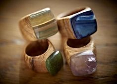 Wooden Rings |Pinned from PinTo for iPad|