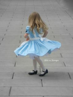 Alice In Wonderland costume dress. $85.00, via Etsy.
