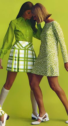 Colleen Corby & Cay Sanderson (Sears Catalog - 1970)! Chic styles of the 70's! Aline