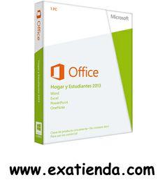 Ya disponible Office 2013 hogar y estudiante   (por sólo 117.99 € IVA incluído):   - Office Hogar y Estudiante 2013 - Contiene: Word Excel PowerPoint OneNote  - EAN:88537045586      Garantía de fabricante  http://www.exabyteinformatica.com/tienda/333-office-2013-hogar-y-estudiante #office #exabyteinformatica