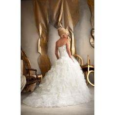 Mori Lee Bridal - 1910 Dress , Mori Lee Bridal strapless beaded appliques ball gown ruffles wedding dress by Joseph C. Simmons
